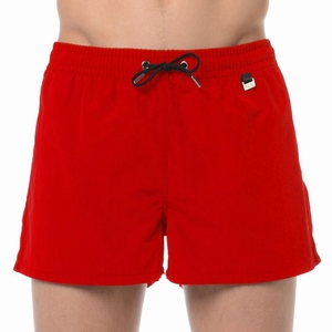 HOM sale beach shorts marina red wijde zwemshort rood maat L