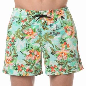 HOM sale beach boxer Hawai multi colour groen maat M