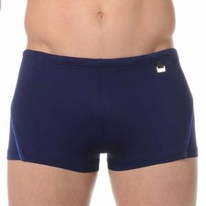 HOM sale swim shorts Sport navy met blauw biesje maat XL