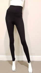 ChiaRico, ideale comfy zachte zwarte legging, maat M