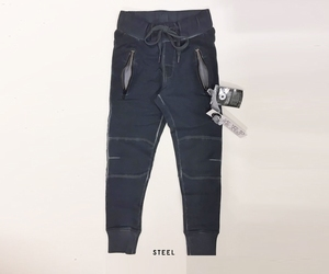 Bleu Pepper jogg pants oildye wash man&vrouw steel antraciet