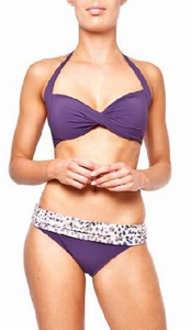 Sedna Kalisha turning bandeau bikini in grape sale maat S