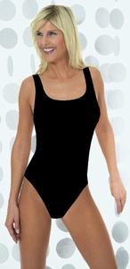Pompadour zachte basis hemd body in zwart / MAAT 46