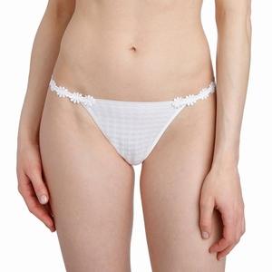 Marie Jo Avero lingerie, bijpassende smalle string, puur wit