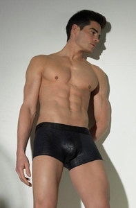 Hom Black Addict Crocodile trunk in leatherlook zwart S