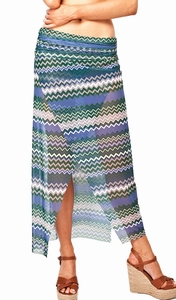 Sedna Tuktu bijpassende skirt in zigzagprint  maat M