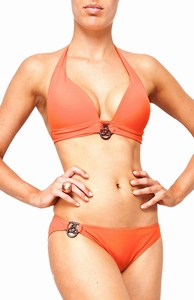 Sedna Sakari padded push up bikini, Orange B cup maat  XL