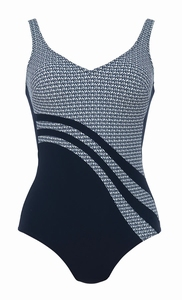 Anita sale comfort elegant marine/wit badpak maat 48 C