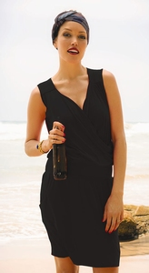 Rosa Faia sale soepel zwart strandjurkje zonder mouw maat S