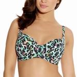 Freya Malibu panterprint groenroze bikinitop padded 80F