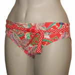 Cyell sale, Havana Red hoge bikinislip  rood paisley maat 40