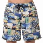HOM sale long beach boxer monaco blue, wijde zwemshort L