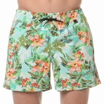 HOM sale beach boxer Hawai multi colour groen maat M