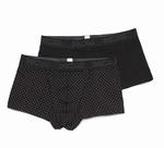 Hom sale HO1 boxer brief 2-pack zwart/zwart met stip M & L