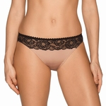 Prima Donna By Night sexy rioslip met zwart kant cream black