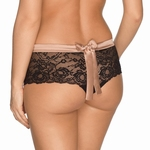 Prima Donna By Night luxe string met zwart kant cream black
