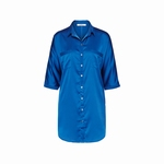 Cyell homewear blouse dress in blauw maat 40