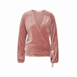 Cyell homewear velours old rose overslagvest maat 38