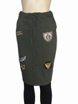 Sensi Wear sale sweatrok army met badges, maat L
