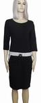 Sensi Wear homewear zwarte jurk met bies, maat XL