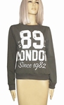 Sensi wear sale, hippe homewear sweater met tekst, army S/M