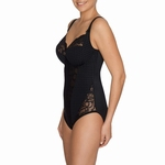 Madison, Prima Donna, stevige body met beugel zwart, C- F