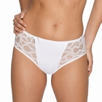 Madison Prima Donna, tailleslip met kant in helder wit