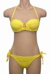 Antigel bikini , La Strass Mania, bandeaubikini in knalgeel