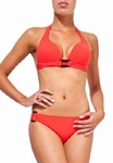 Sedna Riva padded push up bikini in  poppy red 