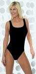 Pompadour zachte basis hemd body in zwart / MAAT 42