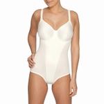 Prima Donna lingerie, Satin stevige body met beugel in ivoor
