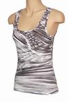 Classy black&white hemdje van Pompadour, waves maat 44