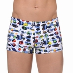 Hom Nemo sale aangesloten swim shorts in wit multi maat XL